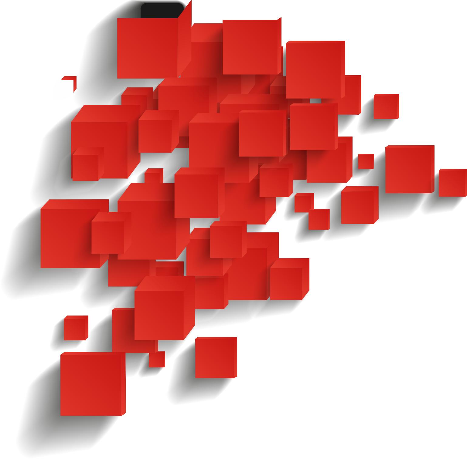 cubi rossi sovrapposti