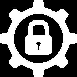icona con rotella e lucchetto