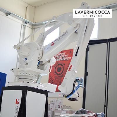 braccio palettizzatore realizzato dalla morgante engineering and systems