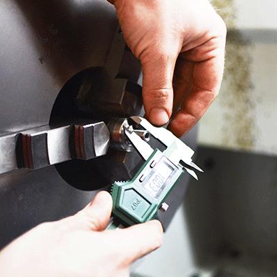 misurazione con calibro
